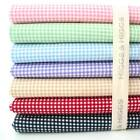 CLASSIC MINI GINGHAM - 100% COTTON FABRIC Patchwork Fashion basics PINK BLUE RED