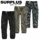 SURPLUS AIRBORNE VINTAGE HOSE SLIMMY ARMY MILITARY CARGO TROUSERS CHINO WORKER