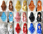 heat resistant ramp bang long Curly Cosplay lady's Full Wigs( 9 Colors)