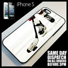 Cover for iPhone 5 Ice Hockey Puck Stick Blades Jersey Helmet Phone Case +8011