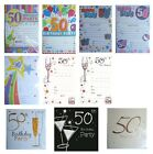 50th BIRTHDAY (Age 50) Party INVITATIONS & Envelopes {Fixed £1 UK p&p}(PI)