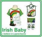 I BELIEVE IN LEPRECHAUNS KIDS BABY WEAR CLOTHES IRISH IRELAND ST PATRICK'S DAY