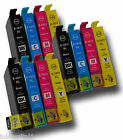 12 x Ink Cartridges 16XL - Set of 3 Replacements For T1631, T1632, T1633, T1634