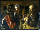 Art Photo Print - Denial Of St Peter - Caravaggio 1573 1610