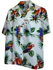 Parrots Hawaiian Shirt, White