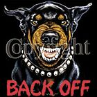 FUNNY~TOUGH~MEAN~TOP DAWG DOG~BACK OFF~ROTTWEILER~~BLACK TANK TOP~~S-2XL