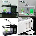 New Mini USB LCD LED Lamp Light Desktop Fish Tank Aquarium Timer Clock Calendar