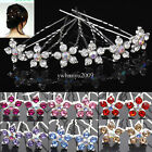 20-200pcs  Rhinestone Crystal Wedding Bridal Party Star Flower Hair Pin Clips