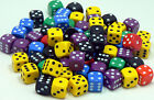 50 of Opaque Six Sided Spot Dice, size 16mm - D6 RPG -  Game Dice - Wargaming