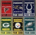 "NFL Football Fan Zone Parking Sign 12""x18"" Pick Team on eBay"