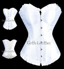 White Satin Honeymoon Bridal CORSET Bustier Sexy S-2XL  Stunning GL-A106_white