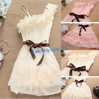 1pcs Fashion Girl One Strap Chiffon Cute Pleated Party Dress Skirt Regular Size