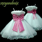 USMD70 Hot Pink Christmas Wedding Pageant Baby Flower Girls Dress 1 to 14 Y