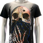 m136b Minute Mirth T-shirt Sz S M L XL Tattoo Big Head Skull Ghost Skeleton Grim