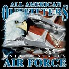 USA FLAG~EAGLE~USAF~AIR FORCE PLANES~TSHIRT~MANY COLORS~S-3XL~SUPPORT OUR TROOPS