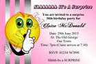 Personalised Surprise Birthday Party Invitations Suprise Invites Shhh Pink