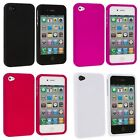 Color Hard Snap-On Rubberized Skin Case Cover Accessory for iPhone 4 4G 4S