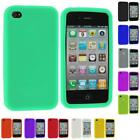 Color Silicone Rubber Gel Skin Case Cover Accessory for iPhone 4S 4G 4