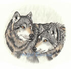 Ceramic Decals Wolves Wolf Pair Forest Animal image