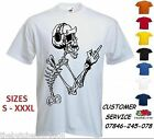 Mens Skeleton Headphones T Shirt Custom Funny Music Print
