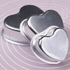 Mixed 3 Sizes Heart-Shaped Fondant Cup Cake Decorating Pan Tin Mold Baking Tools