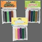 Darice Glitter Flakes, 6 Tubes of Assorted Metallic Colored Loose Craft Glitter