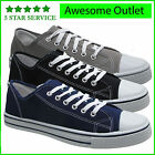 MENS CANVAS BOYS TRAINERS PLIMSOLES PLIMSOLLS CASUAL SHOES LACE UP PUMPS SIZE UK