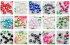 Wholesale 100PCS Round 6mm Glass Pearl Loose spacer beads 14 Colors U Pick