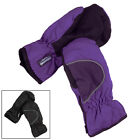 Children's Mittens Thinsulate Lining Black Or Purple Ages 5-7 Or 8-10 Ski Style