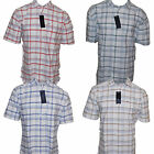 Tommy Hilfiger Mens Plaid Casual Shirt Buttondown Dress Tee White Th Logo V022