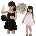Baby Girls Toddler Party Lace Dresses 2-7Y Sequins Collar Princess Cool Clothing
