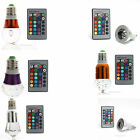 3W E27/E14/GU10 RGB Change LED Light Bulb Lamp 85-265V+IR Remote Controller