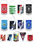 OFFICAL FOOTBALL CLUB  - MINI FLAG PENNANT CAR ACCESSORY - SOUVENIR GIFT XMAS