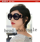 Fashion Semi Transparent Round Retro-inspired Women Butterfly Arms Sunglasses