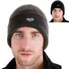 Mens Knitted Fleece Lined 40g Thinsulate Insulation Winter Hat - Black Or Grey