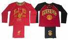 BOYS PYJAMAS MANCHESTER UNITED OR LIVERPOOL 4-12 YEARS LONG