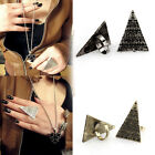 NEW Punk Vintage Pyramid Taper Geometrical Triangle Finger Adjustable RingS