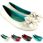 WOMENS HUSH PUPPIES SOLACE SKIMMER LEATHER FLAT SHOES BALLET PUMPS LADIES 3-8