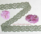 """12/24 Yards Green Lace Trim Stretch 1/2"""" Scroll O42DV Buy More-Ship No Charge"""