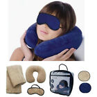 Portable Travel Set with Inflatable Pillow Blanket Mask Cyber Monday Deals