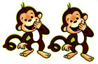 "3.5"" SILLY MONKEY ORANGATANG JUNGLE SAFARI ANIMAL FABRIC APPLIQUE IRON ON"
