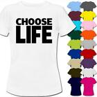 Choose Life Wham Retro 80s Fancy Dress Womens Ladies T-Shirt