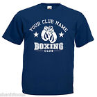 Personalised Boxing Club Boxer Adults Mens T Shirt 12 Colours Size S - 3XL