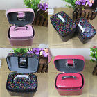 NEW Gift Leather Jewelry Box Makeup Cosmetic Decorative pattern Storage Case