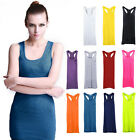 Women's Sexy Candy Color Casual Modal Vest Long T-Shirt Dresss Dresss Tank Top