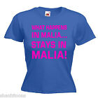 Malia Ladies Lady Fit T Shirt 13 Colours Size 6 - 16