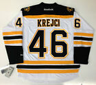 DAVID KREJCI 2013 BOSTON BRUINS STANLEY CUP RBK PREMIER WHITE JERSEY