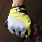 Cycling Bike Bicycle Ultra-breathable Shockproof Half Finger Glove Yellow