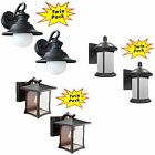 2 Pack - Black Outdoor Porch / Patio Exterior Outdoor Wall Lighting Fixtures