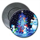 Snowman Family Decorating Xmas Tree Fridge Magnet